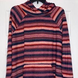NWT Lularoe 2XL 2X pink blue stripe Amber hoodie